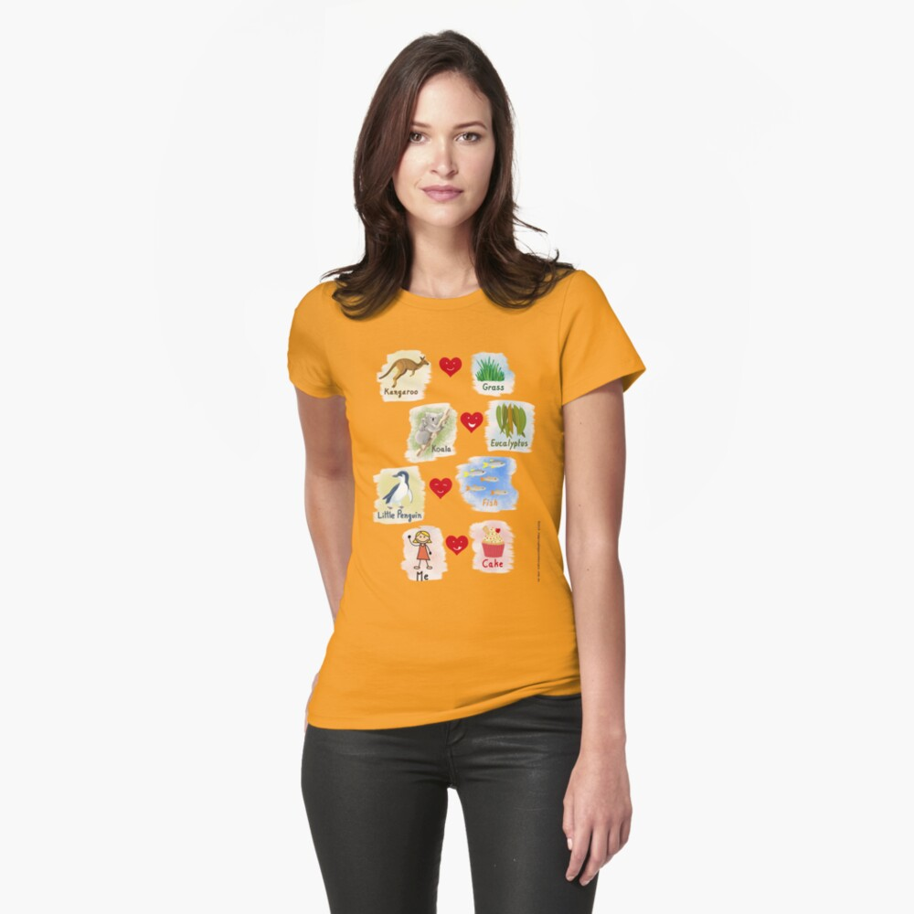 Aussie Friends love food - Girl Fitted T-Shirt