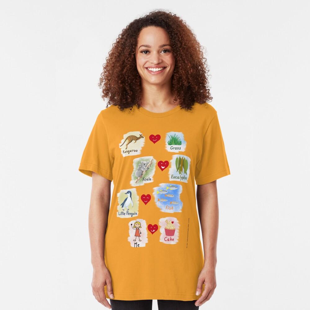 Aussie Friends love food - Girl Slim Fit T-Shirt