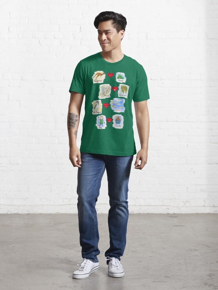 Alternate view of      Aussie Friends love food - Boy Essential T-Shirt