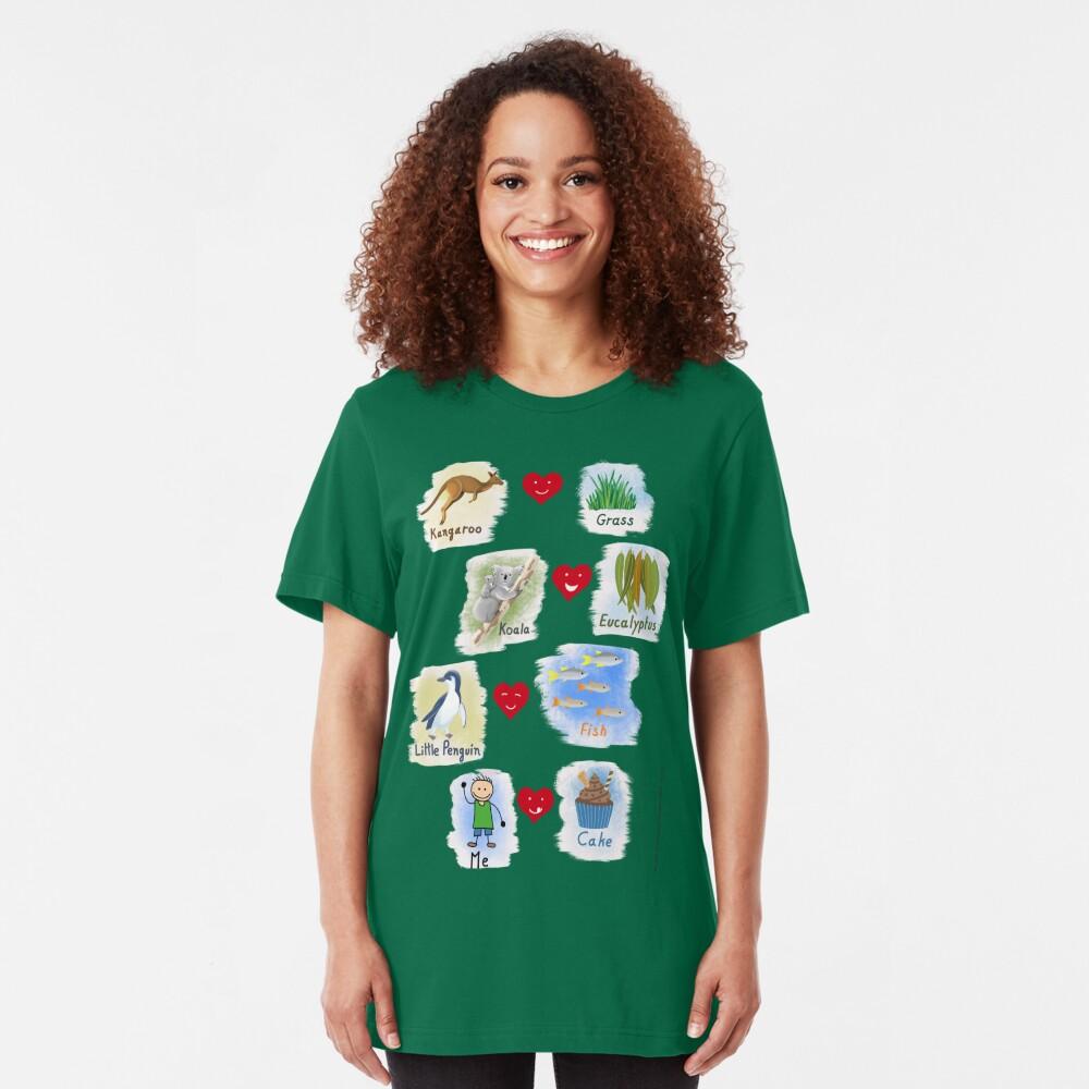 Aussie Friends love food - Boy Slim Fit T-Shirt