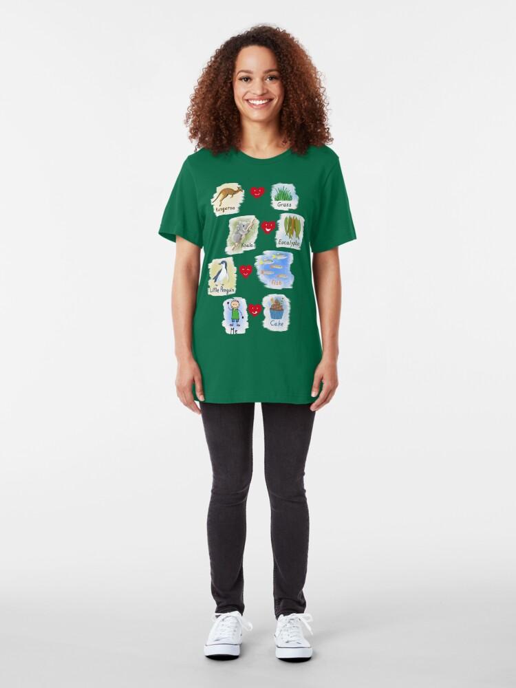 Alternate view of      Aussie Friends love food - Boy Slim Fit T-Shirt
