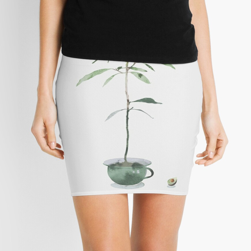 Avocado Tree Mini Skirt