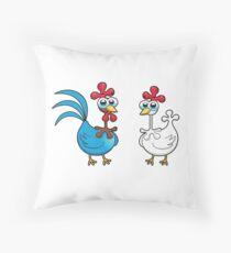 chicken animal farm and kid Throw Pillow
