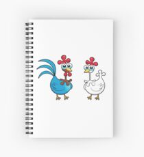 chicken animal farm and kid Spiral Notebook