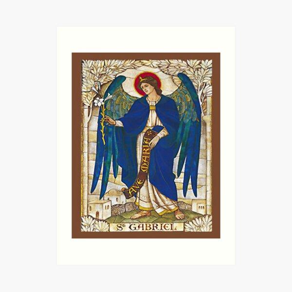 St Gabriel Angel Catholic Saint Archangel Art Print