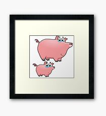 pig an piggy animal farm for kid Framed Print