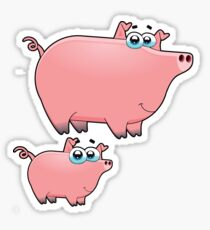 pig an piggy animal farm for kid Sticker