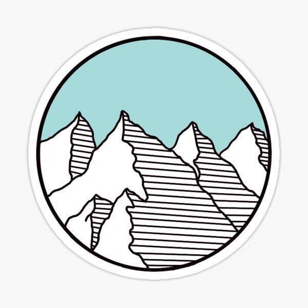 Light Teal Mountain Sticker