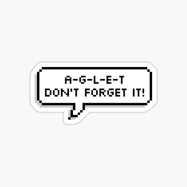 A-G-L-E-T Sticker