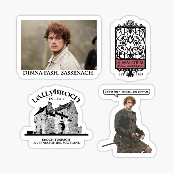 All About Jamie Fraser - Outlander Pack 1 Sticker