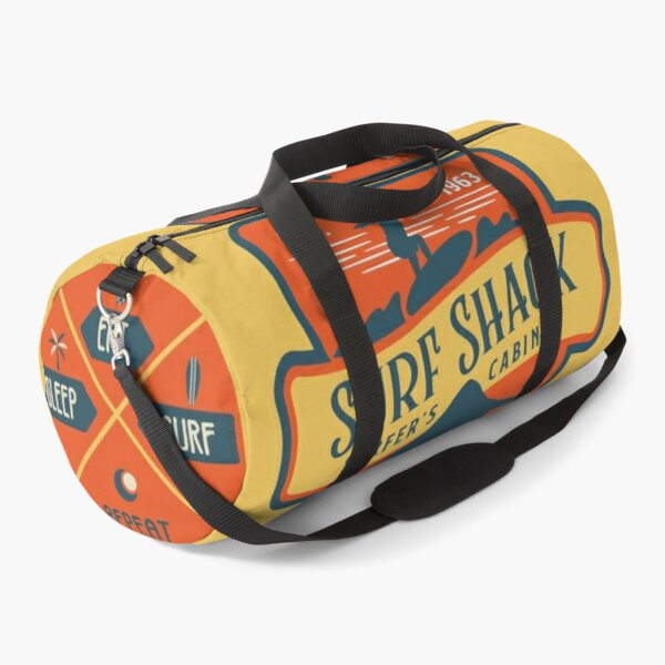 Retro Surf Shack Duffel Bag Orange Duffle Bag