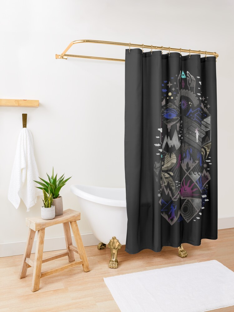 Alternate view of Yawning Hollow Shower Curtain