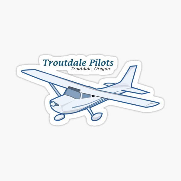 Troutdale Pilots High Wing Sticker
