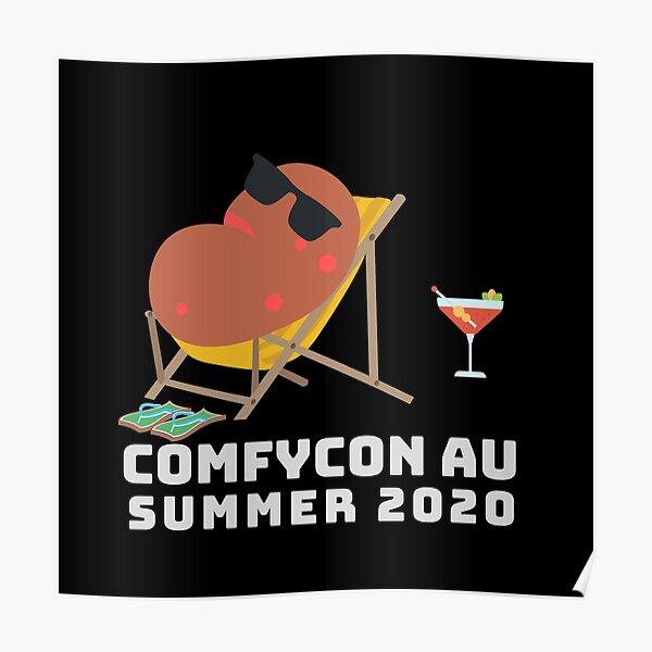 ComfyCon AU 2020 Summer Edition (Dark) Poster