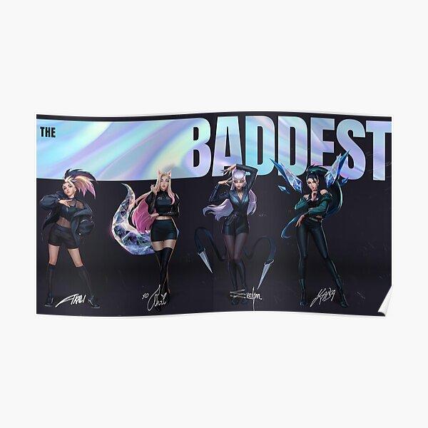 KDA The Baddest  Poster