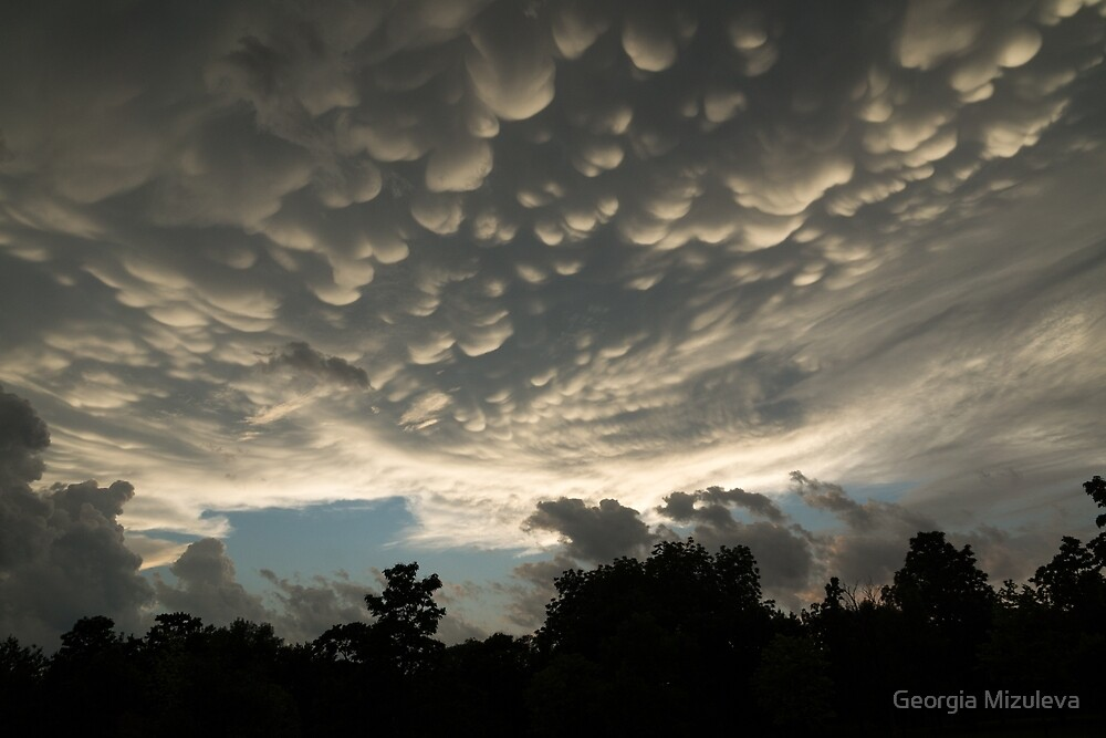 Bizarre Mammatus Clouds After a Thunderstorm by Georgia Mizuleva
