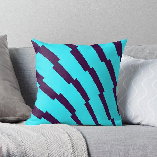 English Premier League Blue Purple Patterns Throw Pillow
