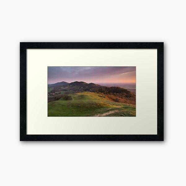 The Malverns Ridge, England Framed Art Print