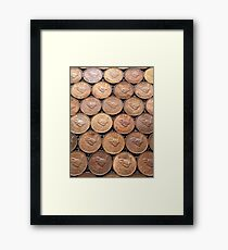 Who's your Farthing? Coins Framed Print
