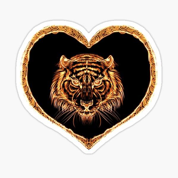 Fiery tiger  Sticker