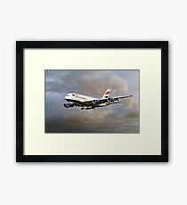 British Airways Airbus A380 Framed Print