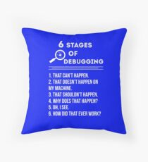 Debugging Throw Pillow