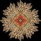Buddha and Karmic Hand Mandala by Helen Aldous
