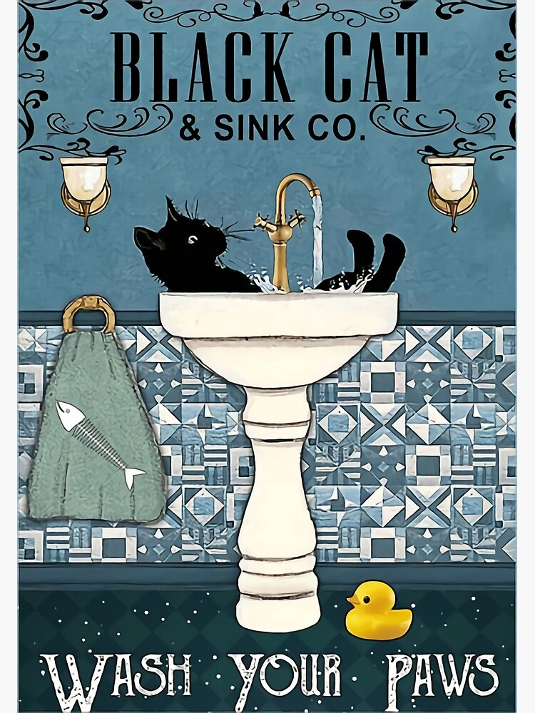 Black Cats wash your paws by rayc-truitt