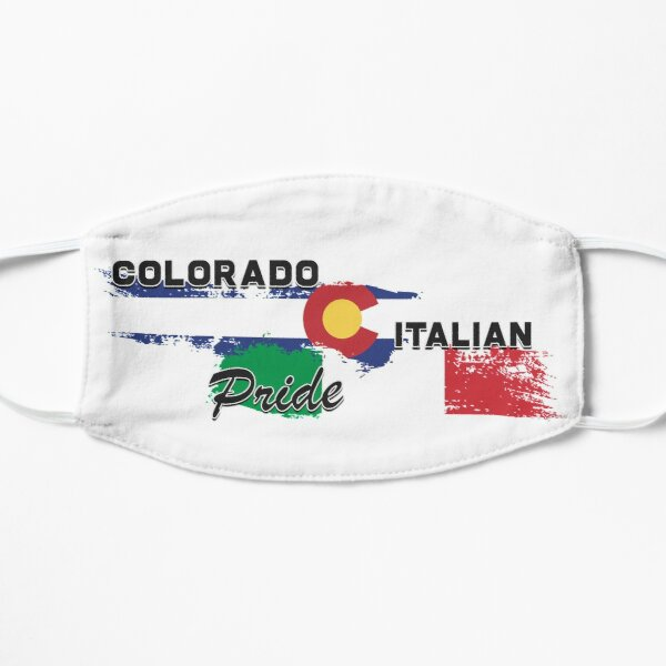 Colorado Italian Pride (Black Text) Flat Mask