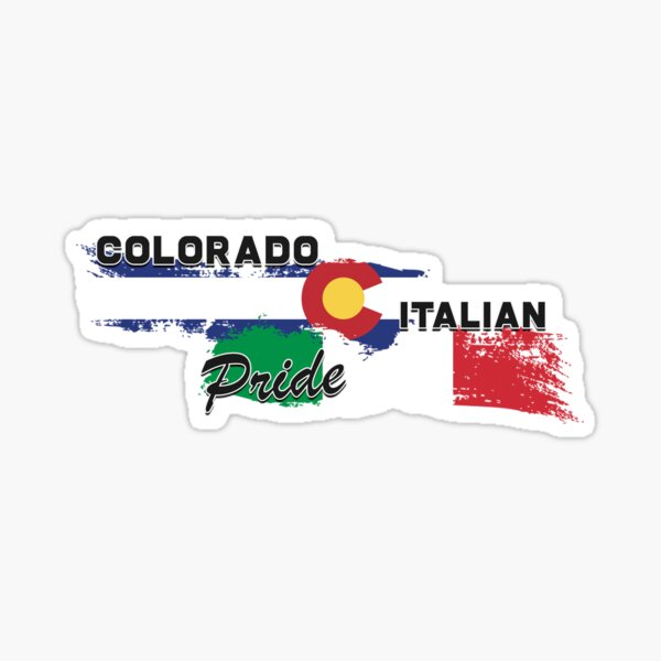 Colorado Italian Pride (Black Text) Sticker