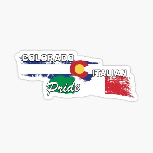Colorado Italian Pride (White Text) Sticker