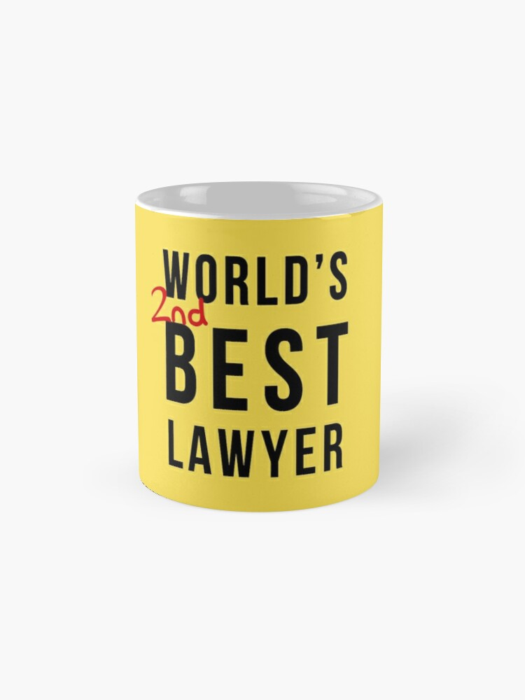 Alternate view of World's 2nd Best Lawyer Mug