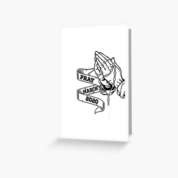 Prayer March 2020 For America  Greeting Card