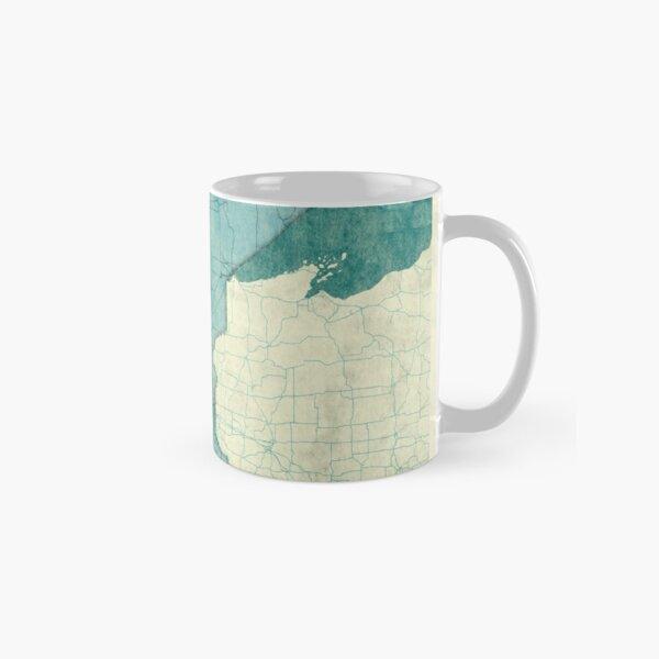 Minnesota State Map Blue Vintage Classic Mug
