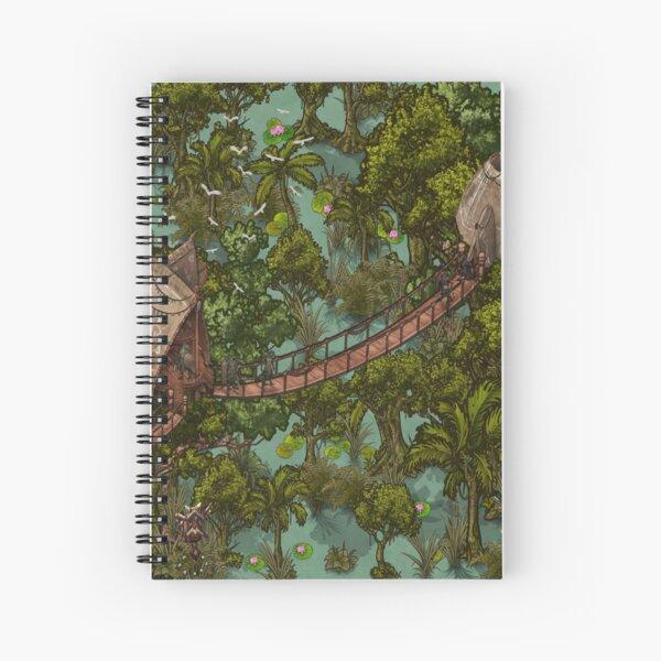 Fantasy  Green Tropical Map Spiral Notebook