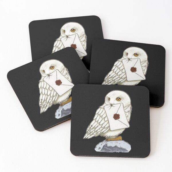 White Owl Coasters (Set of 4)