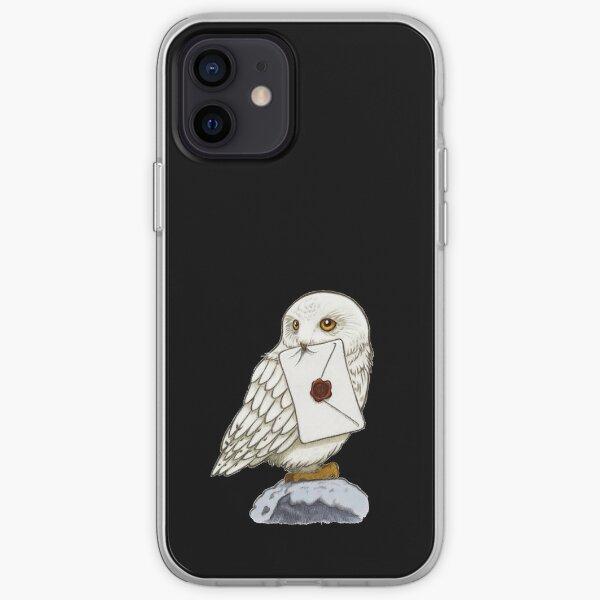 Chouette blanche Coque souple iPhone