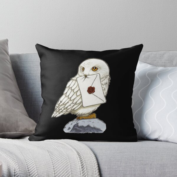 Chouette blanche Coussin