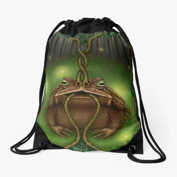 The Toad of Clairvoyance Drawstring Bag