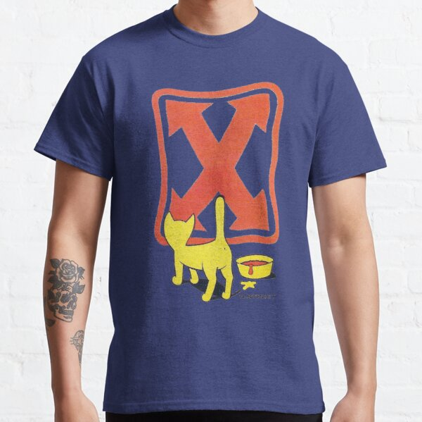 Cat, H-street skateboard t shirt design. Classic T-Shirt