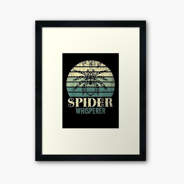 Bug Collector Idea Arachnid Anthropod Spider Framed Art Print