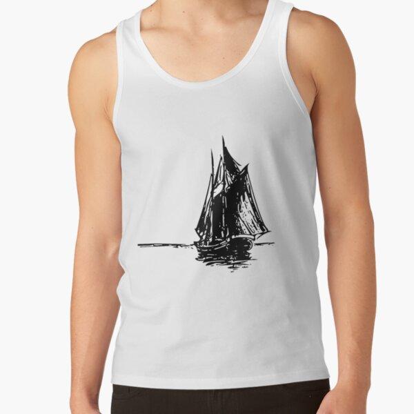 Sailship Drawing Tank Top