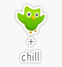 duolingo and chill Sticker