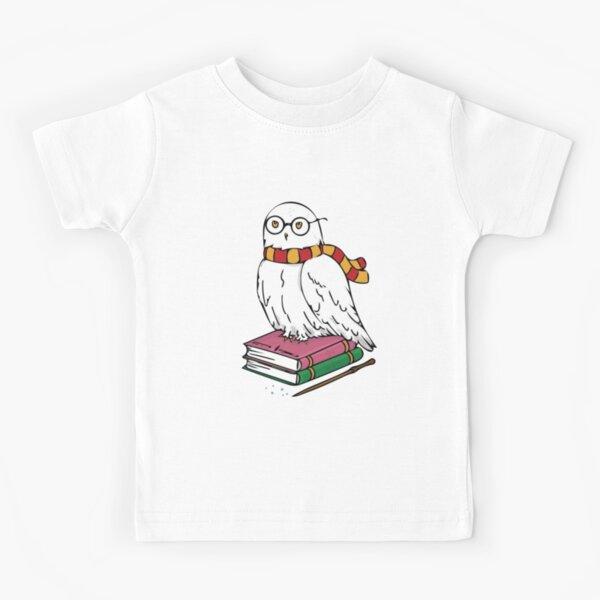 White Owl in Glasses Kids T-Shirt