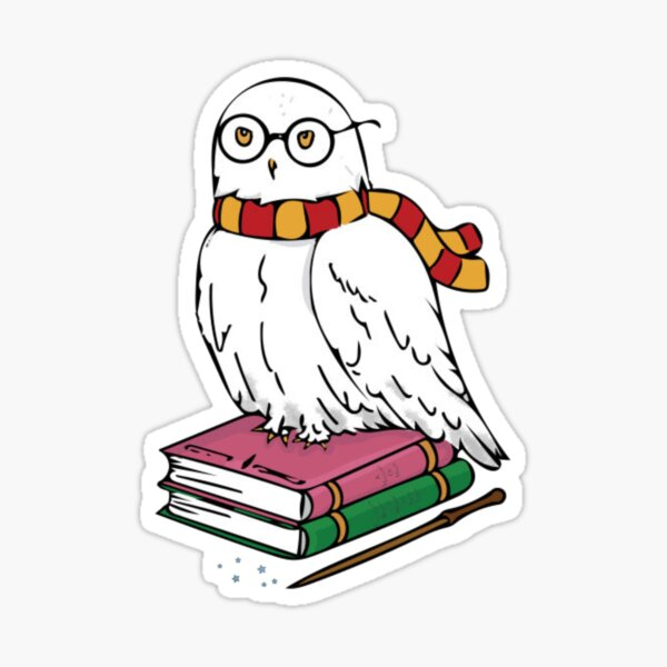 White Owl in Glasses Sticker