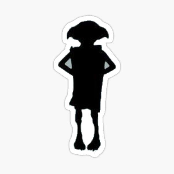 Silhouette Elf Sticker