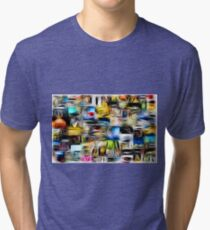 Scuare Abstract Tri-blend T-Shirt