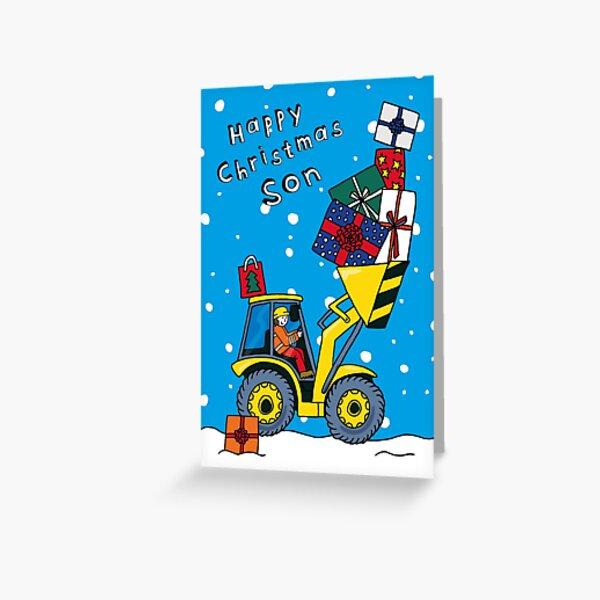 Son - Christmas Digger Card - 3 skin tones available! Greeting Card