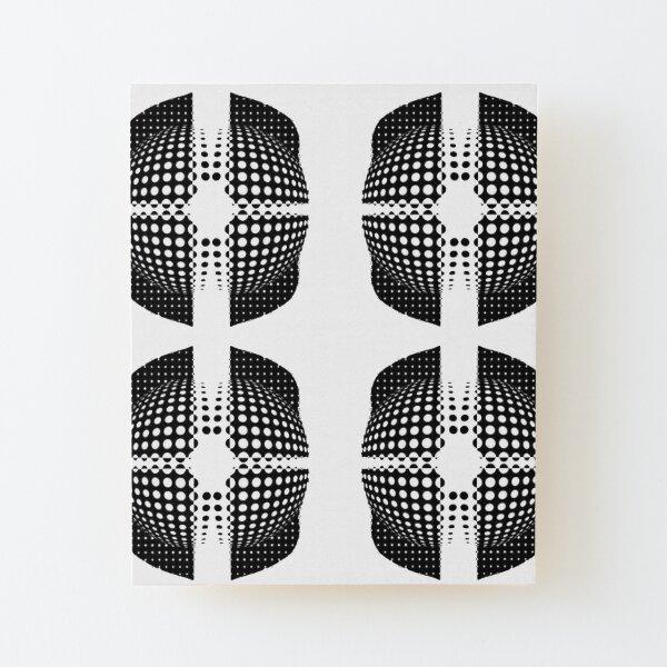 Illusion Pattern Wood Mounted Print