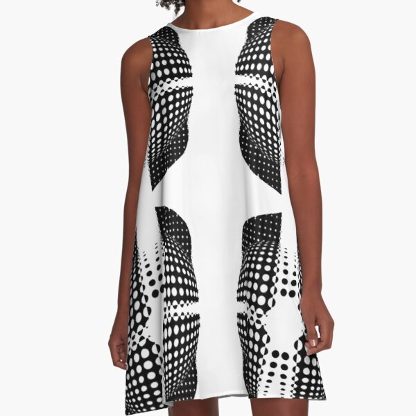 Illusion Pattern A-Line Dress